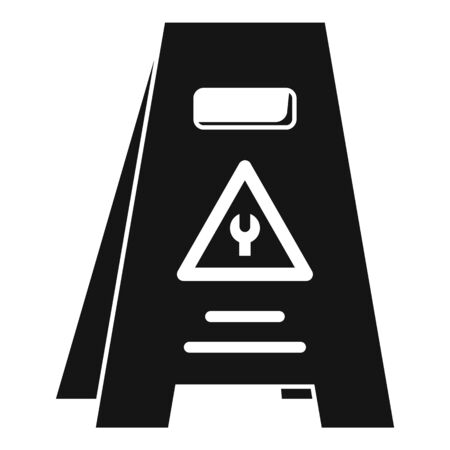 Road repair panel icon, simple style