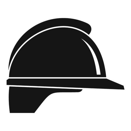 Construction helmet icon, simple style