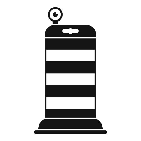 Road repair barrier icon, simple style