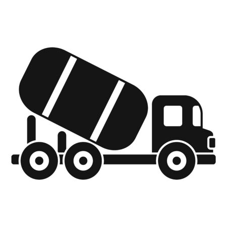 Cement mixer machine icon, simple style