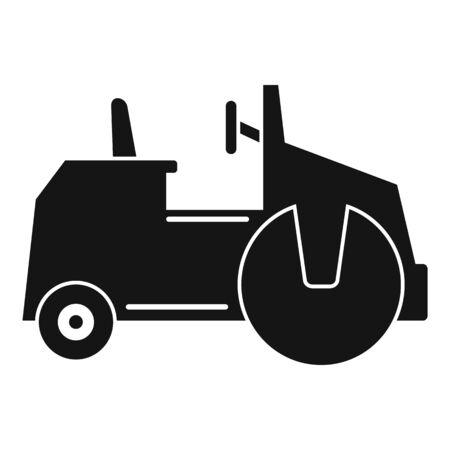 Asphalt road roller icon, simple style 일러스트