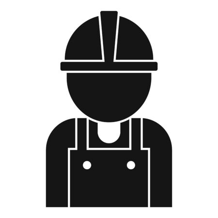 Road repair worker icon, simple style Иллюстрация