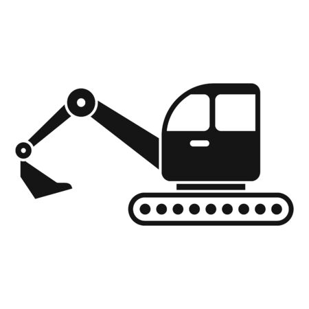 Excavator icon, simple style