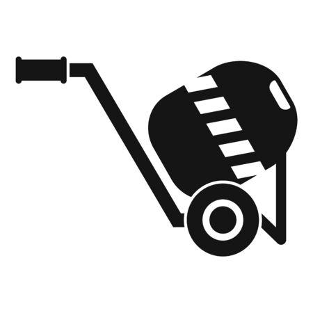 Concrete mixer icon, simple style 일러스트