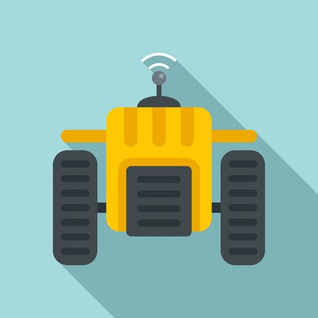 Autonomous farm machine icon. Flat illustration of autonomous farm machine vector icon for web design Illusztráció