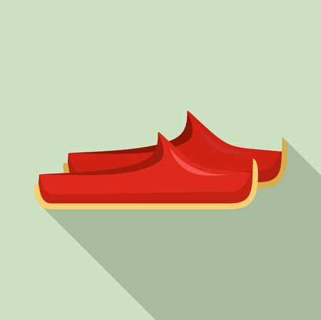 Turkish shoes icon, flat style Ilustracja