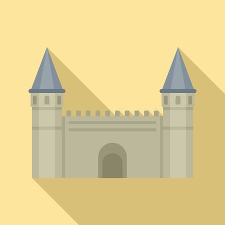Turkish citadel icon. Flat illustration of turkish citadel vector icon for web design