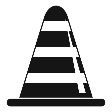 Road repair cone icon. Simple illustration of road repair cone vector icon for web design isolated on white background