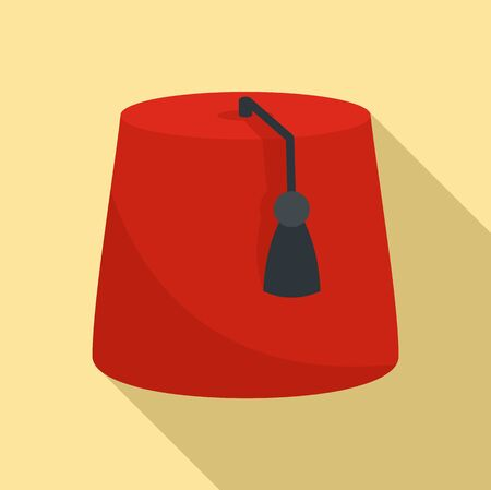Turkish hat icon. Flat illustration of turkish hat vector icon for web design