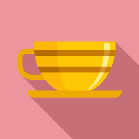 Cup of tea icon. Flat illustration of cup of tea vector icon for web design Illusztráció