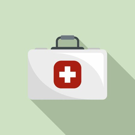 Medical kit icon. Flat illustration of medical kit vector icon for web design
