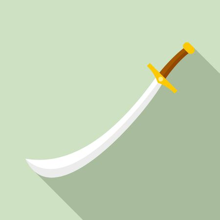 Turkish sword icon. Flat illustration of turkish sword vector icon for web design