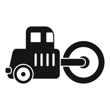 Road roller icon. Simple illustration of road roller vector icon for web design isolated on white background
