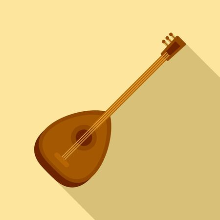 Turkish saz icon. Flat illustration of turkish saz vector icon for web design