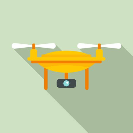 Agricultural drone icon. Flat illustration of agricultural drone vector icon for web design