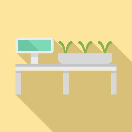 Smart growing plants icon. Flat illustration of smart growing plants vector icon for web design