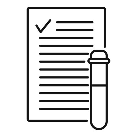 Blood test results icon, outline style