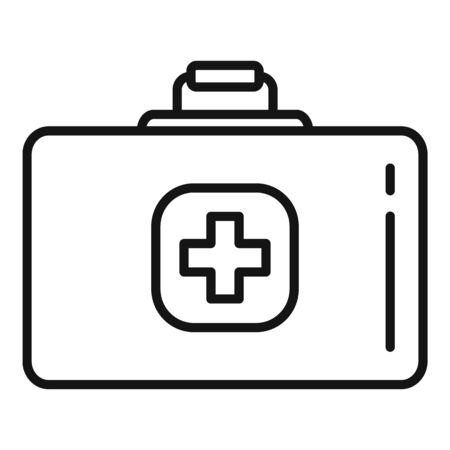 Medical kit icon, outline style