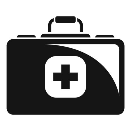 Medical kit icon. Simple illustration of medical kit vector icon for web design isolated on white background Illusztráció