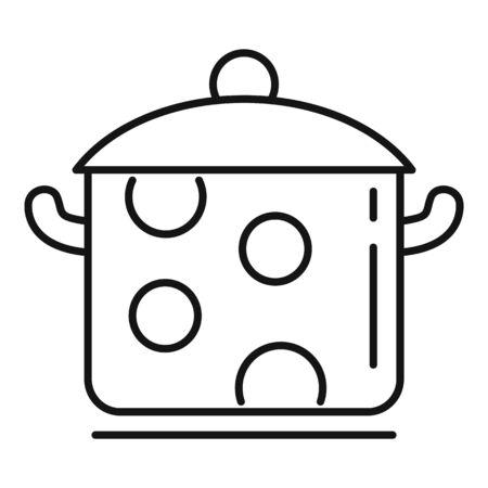 Food saucepan icon. Outline food saucepan vector icon for web design isolated on white background