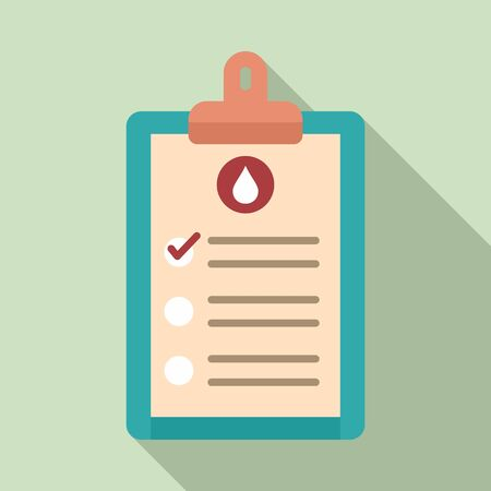 Medical blood results icon. Flat illustration of medical blood results vector icon for web design
