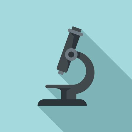 Microscope icon. Flat illustration of microscope vector icon for web design Иллюстрация