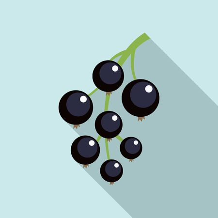 Blackcurrant icon. Flat illustration of blackcurrant vector icon for web design