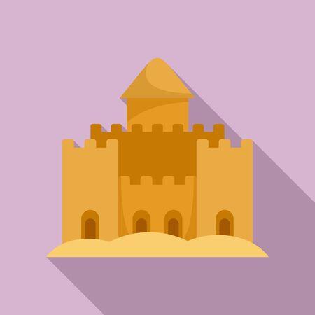 King palace sand icon. Flat illustration of king palace sand vector icon for web design Ilustrace