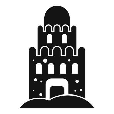 Beach sand castle icon. Simple illustration of beach sand castle vector icon for web design isolated on white background Ilustrace