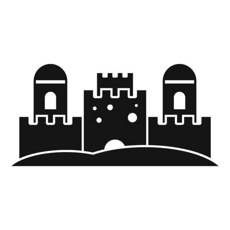 Beach castle icon. Simple illustration of beach castle vector icon for web design isolated on white background