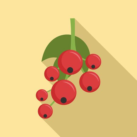 Redcurrant icon. Flat illustration of redcurrant vector icon for web design