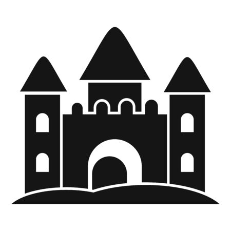 Castle made of sand icon. Simple illustration of castle made of sand vector icon for web design isolated on white background