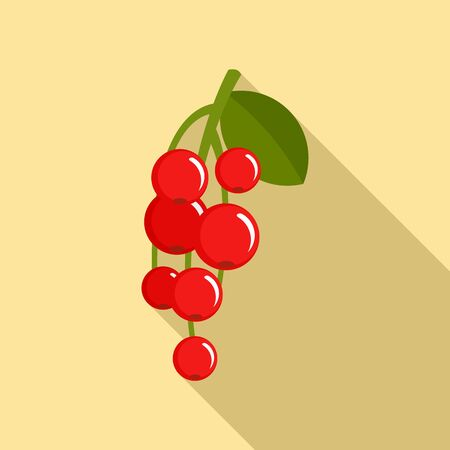 Redcurrant berry icon. Flat illustration of redcurrant berry vector icon for web design