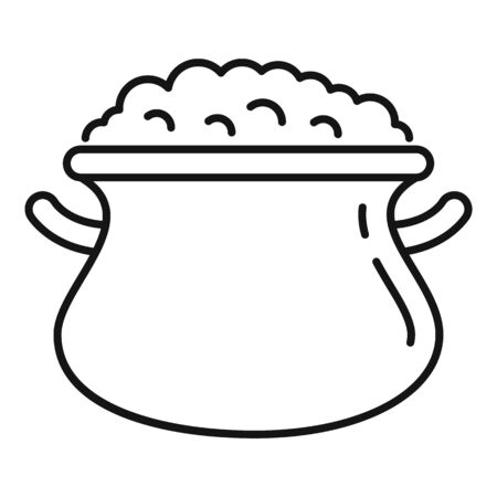 Oatmeal pan icon. Outline oatmeal pan vector icon for web design isolated on white background Ilustrace