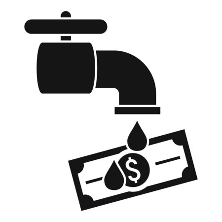 Water tap money laundering icon. Simple illustration of water tap money laundering vector icon for web design isolated on white background