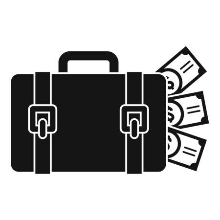 Money bag washing icon. Simple illustration of money bag washing vector icon for web design isolated on white background
