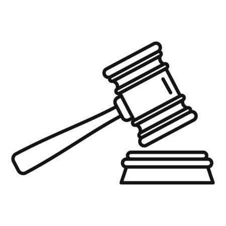 Money wash gavel icon. Outline money wash gavel vector icon for web design isolated on white background Ilustrace