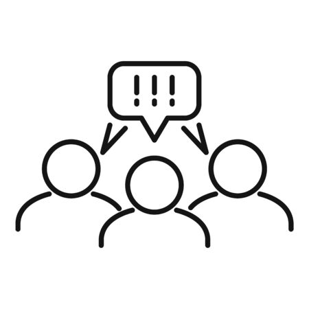 Collaboration chat icon, outline style