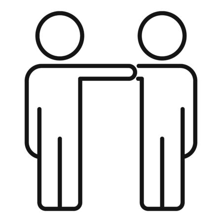 Friends collaboration icon, outline style