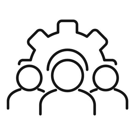 Development collaboration icon, outline style