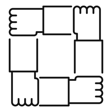 Hand shake collaboration icon, outline style