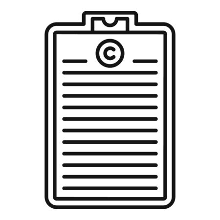 Franchise clipboard icon, outline style