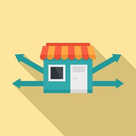 Development franchise business icon, flat style