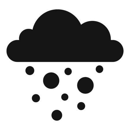 Nature blizzard icon, simple style Illustration