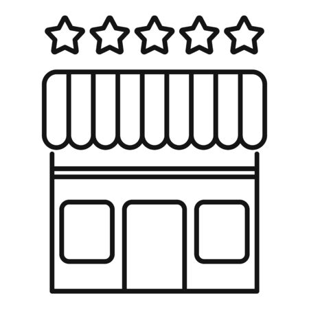 Street shop franchise icon, outline style