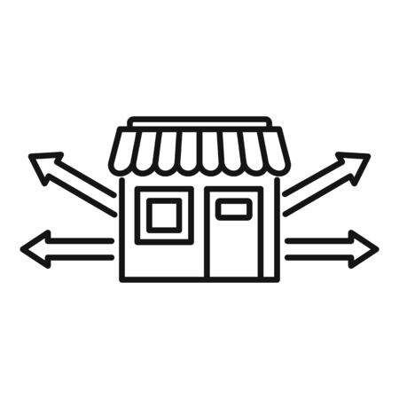 Development franchise business icon, outline style