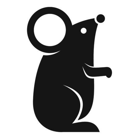 Mouse icon, simple style Illustration