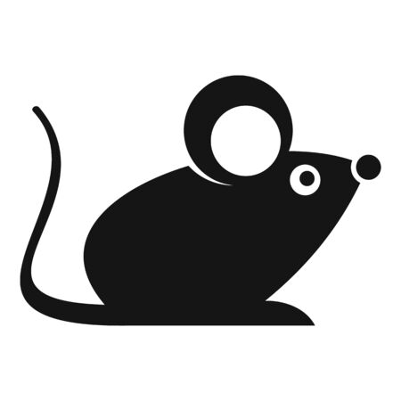 Wild mouse icon. Simple illustration of wild mouse vector icon for web design isolated on white background Illustration