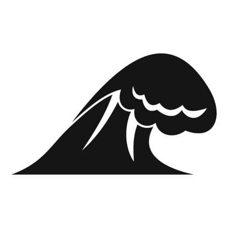 Thunderstorm tsunami icon, simple style Illustration
