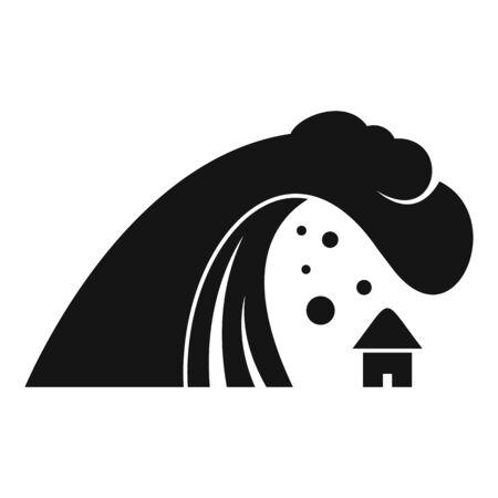 Tsunami wave icon, simple style Vektorové ilustrace